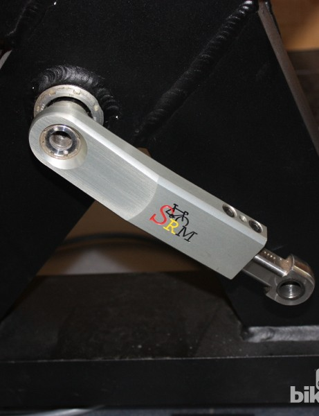 Beyond the simple saddle adjustments, the SRM ergometer is adjustable for crank length, too, from 150mm to 190mm