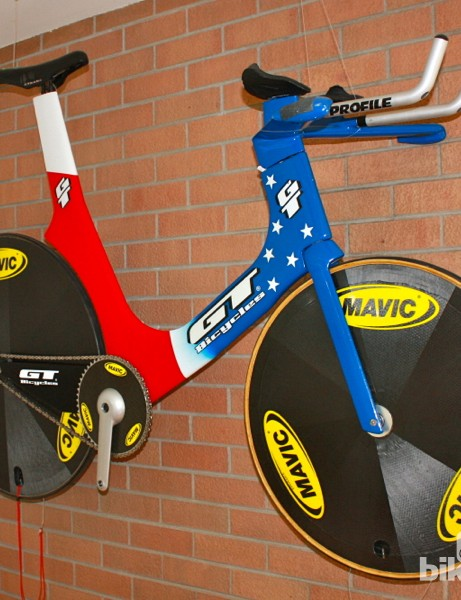 SRM and Schoberer have long histories with pro and national teams. Schoberer worked with the US Olympic team for Project 96, and was given this bike as a thank you