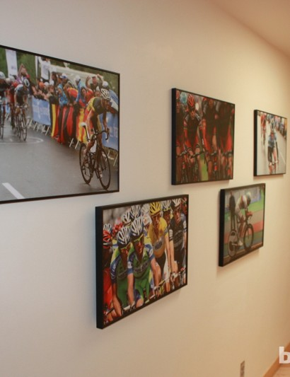 At SRM's Colorado Springs facility, the company illustrates its strong connection to the pro peloton