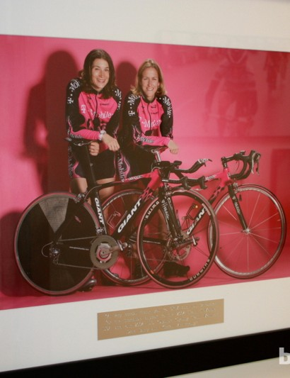 Many pro riders send in tokens of their thanks. Shown here are former T-Mobile and US Olympic riders Dede Barry and Kristin Armstrong