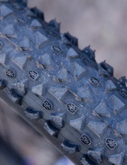 The Ritchey Shield tyre features a close and shallow tread pattern for high-speed rolling