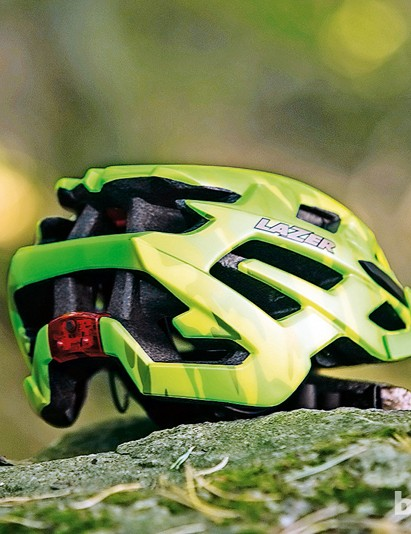 The Lazer Ultrax has an in-built rear light, which is USB chargeable