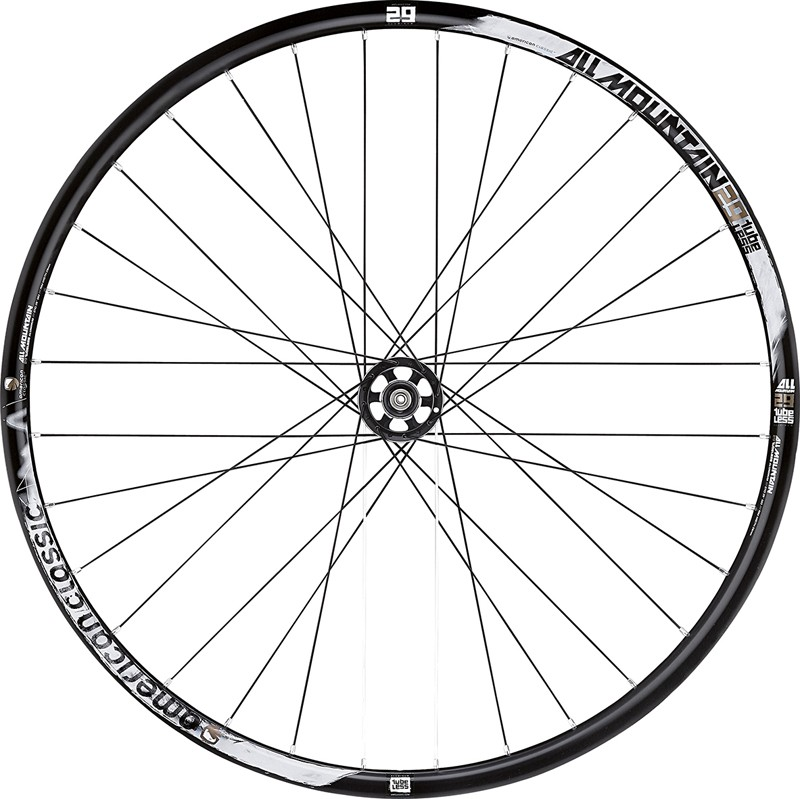 Although American Classic's new Wide Lightning wheel uses a substantially wider rim than the All-Mountain model, company principal Bill Shook says the latter is still more recommended for heavier duty applications since the rim walls are thicker and more resistant to denting