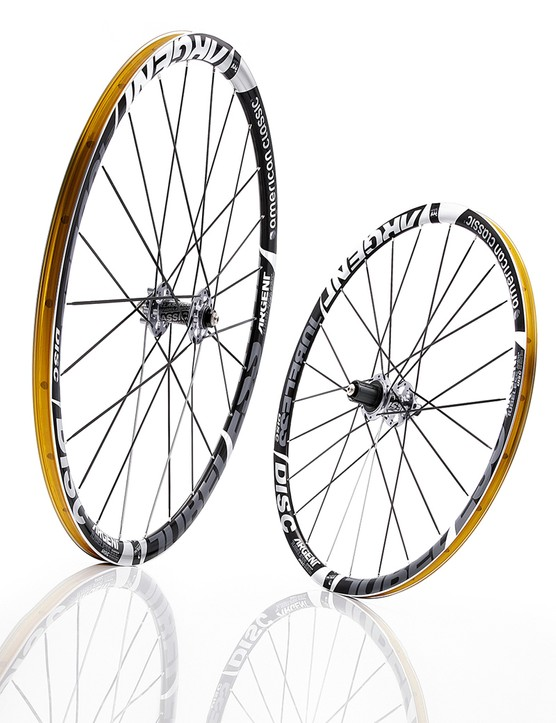 The excellent American Classic Argent Road Tubeless wheelset gets a disc brake variant for 2014, adding about 150g as compared to the rim brake version