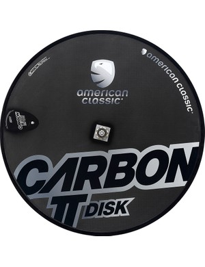 New from American Classic for 2014 is an ultralight rear disc wheel. Claimed weight for the carbon tubular is just 1,050g