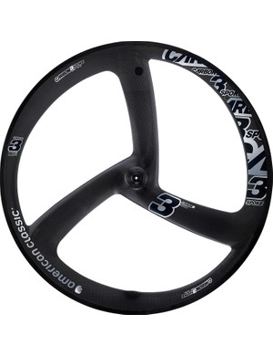 American Classic adds a molded three-spoke carbon wheel to the range for 2014. Claimed weight is 684g