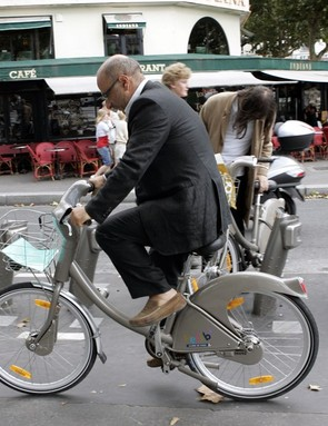 In Paris, Velib users are often lidless too