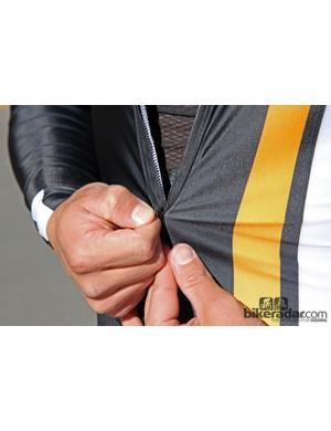 The zipper on the Champion System Custom Cyclocross suit sucks