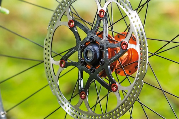 Uberbike Components 180mm floating rotor: 160mm and 203mm version also available