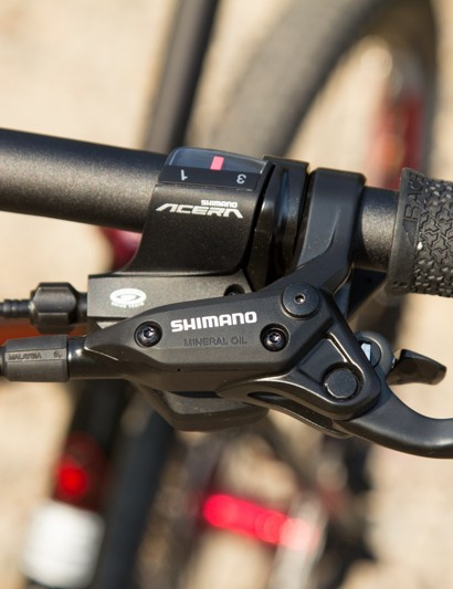 Shimano brakes and Acera shifters both worked well