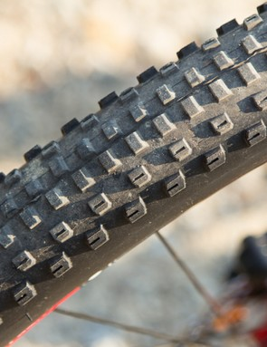 The Bontrager XR-1 tyres were fast and grippy in dry conditions - perfectly suited to the X-Caliber's versatile personality