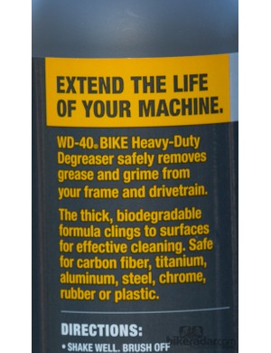WD-40 Bike Heavy Duty Degreaser - specifically formulated for use on bicycles, which can be susceptible to damage from heavy-duty solvents
