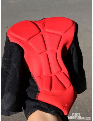 The four-way-stretch chamois on the Bontrager Race Thermal bib short is adequate but not outstanding