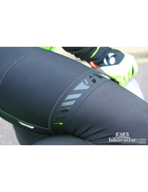 The rubbery details on the Bontrager Race Thermal bib short look good, but also grab lint, dog hair, you name it