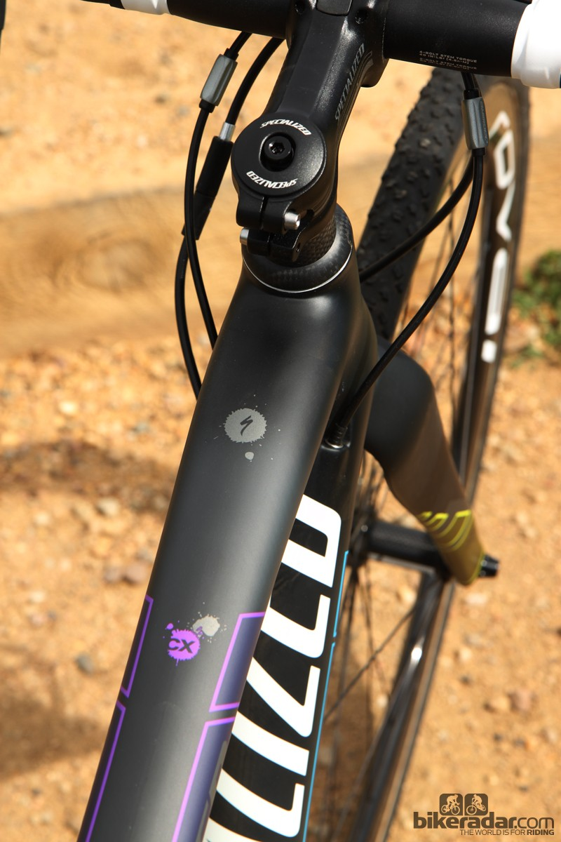 The top tube gets noticeably wider as it approaches the head tube