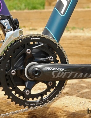 Specialized trades out the SRAM Red 22 crankset with its own FACT carbon arms