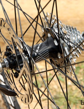 Both wheelsets come pre-fitted with rotors and tires so it's (nearly) a plug-and-play operation to swap between them