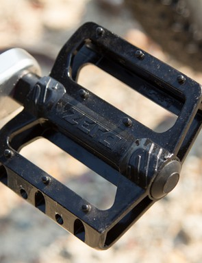 The Montari included a decent quality pair of alloy platform pedals. The gloss paint was slick but new, but the grip improved with use