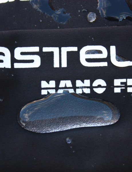 Castelli Nanoflex provides functional water resistance in a flexible format