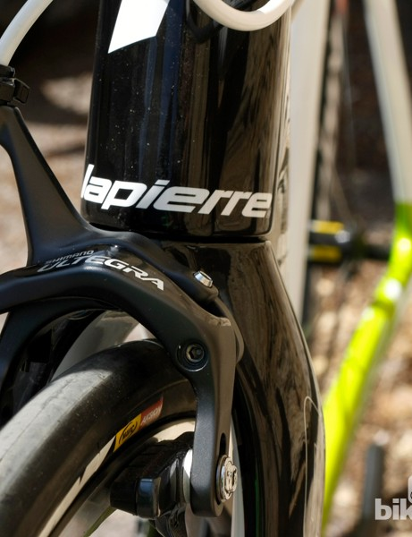 The Xelius is equipped with Shimano Ultegra brakes, an upgrade from last year's model