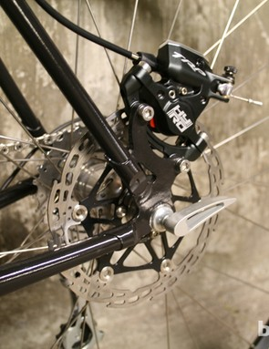 TRP's HyRd cable actuated hydraulics are paired to Hope mountain bike disc rotors
