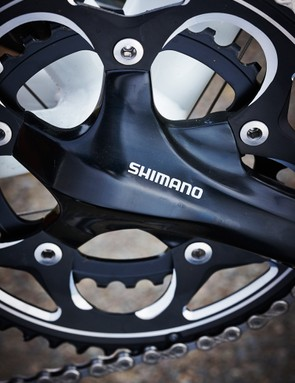 The 50/34t compact chainset, coupled with a gives a 12-28t cassette, wide spread of gears