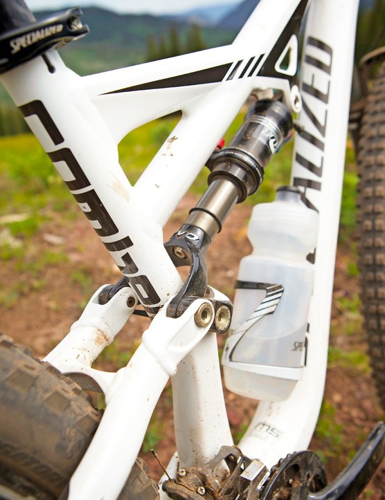 Fox's CTD rear shock gets the Specialized Autosag treatment, making it easy to set up