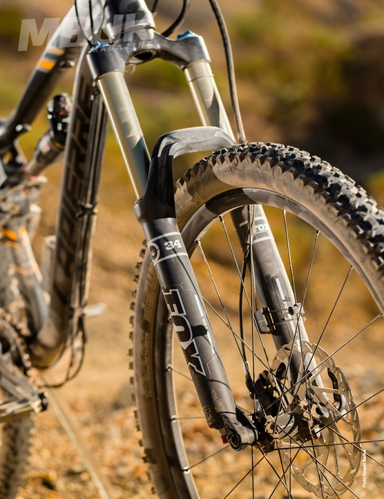 The Fox 34 is not the ideal fork for this bike