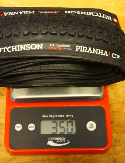 Hutchinson Piranha2 CX: Actual weight came in 10g lower than the advertised weight