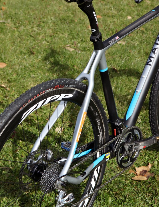 The Marin Cortina T3 CX Pro is disc-specific with no provision for rim brakes
