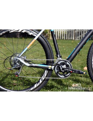 The dropped stay should make for reduced chain slap on Nicole Duke's (Marin Bikes/Spy Optics) Marin Cortina T3 CX Pro
