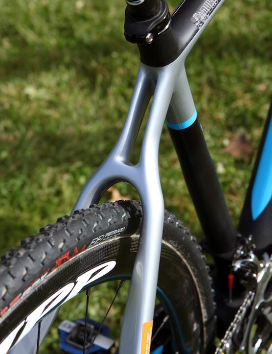 The pseudo-monostay on Nicole Duke's (Marin Bikes/Spy Optics) Marin Cortina T3 CX Pro