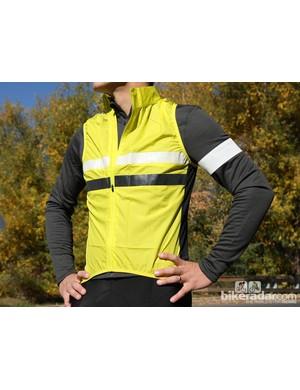 Rapha winter wear: The Brevet jersey comes with a hi vis vest