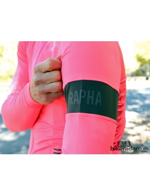 Rapha winter wear: If the electric salmon color didn't give it away already, this is Rapha