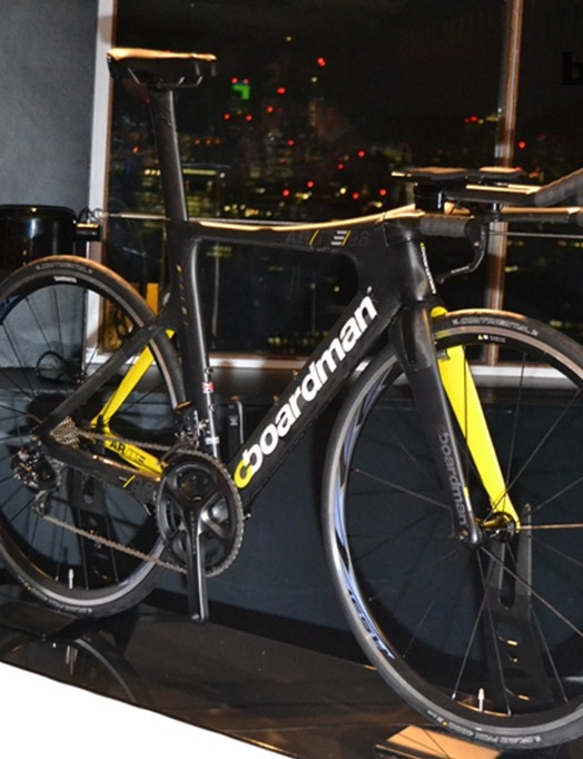 The Boardman AiR/TTE is the flagship of the 2014 range and was unveiled last month at the Ironman World Championships in Kona