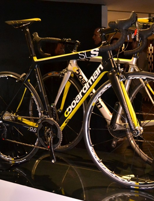 The Boardman SLS is well equipped at the upper end of the range: SRAM Red dominates on the SLS9.8