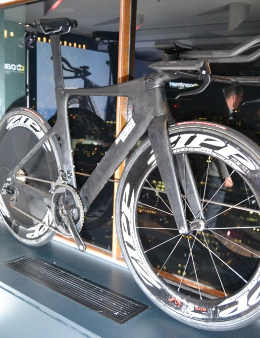Our favourite bike on display: a late prototype of the AiR/TTE