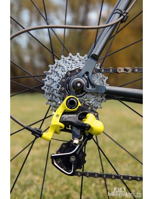 Aside from the SRAM cassette, there's nothing here from any of the three major component companies