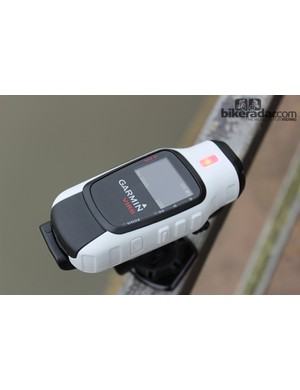 You know the Garmin VIRB Elite's recording when the red light flashes. The LCD interface is a window to the action camera's intuitive functionality