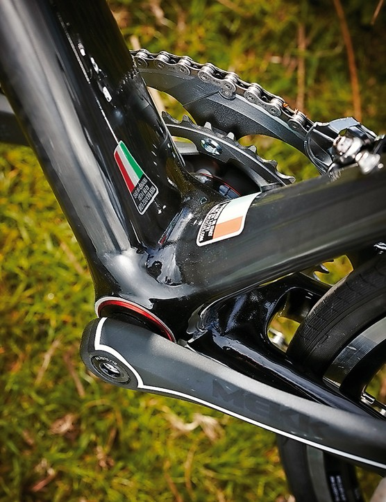 Mekk Poggio 1.5: Mekk's own two-piece chainset plugs into the BB86 bottom bracket