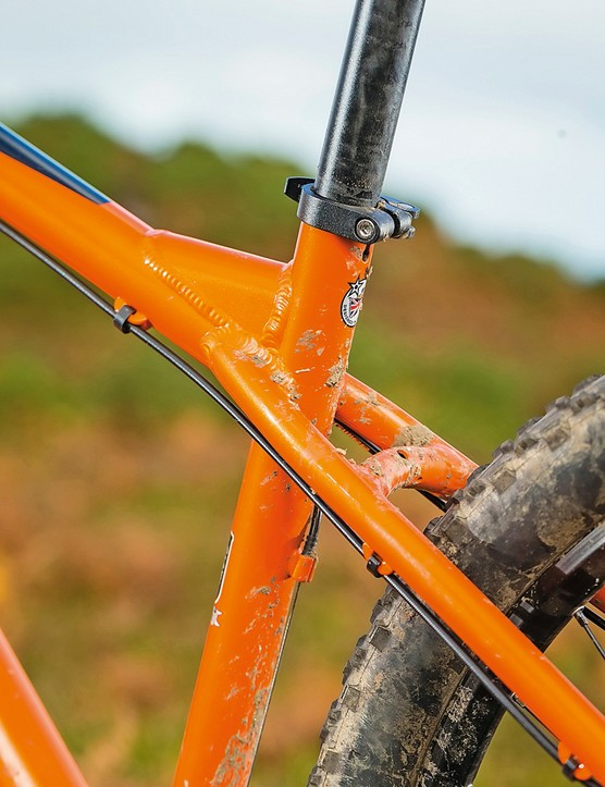The Orange Crush is ready (and waiting) for a dropper post