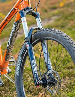 The RockShox Sektor fork gives 140mm well-controlled travel