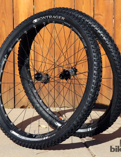 Bontrager's new Rhythm Elite trail wheelset features a 22.5mm-wide (internal width) tubeless-compatible aluminum rim laced to a quick-engaging rear hub