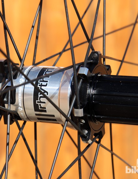 Front and rear hub shells are ultra-oversized