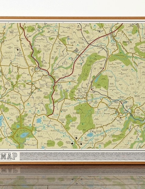 Herfie's fictional mountain bike map