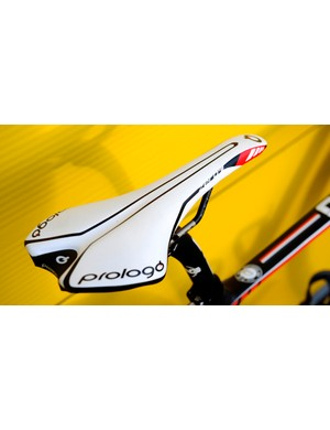 Downing's saddle choice is a Prologo Zero II