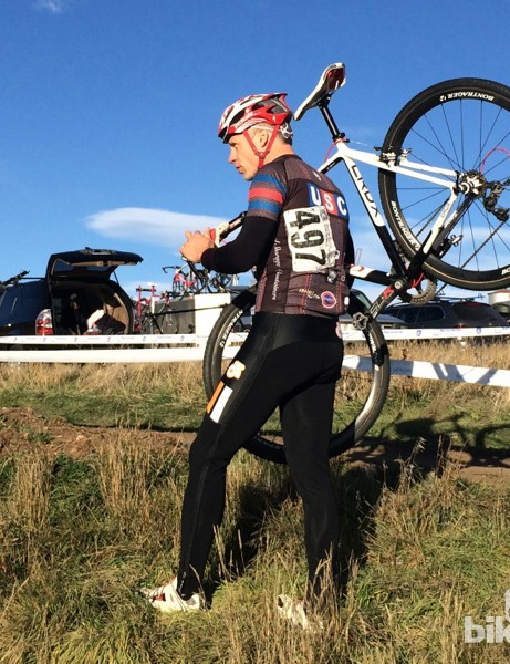 Champion System Custom Cyclocross warm-up tights: A handy solution for staying warm until the last possible minute
