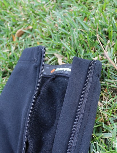 Champion System Custom Cyclocross warm-up tights: A fleece backing keeps the zipper off the skin