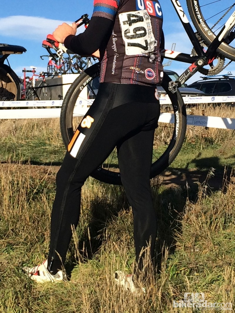 Champion System Custom Cyclocross warm-up tights: The zip-off tights can be purchased in conjunction with a custom clothing order of other pieces