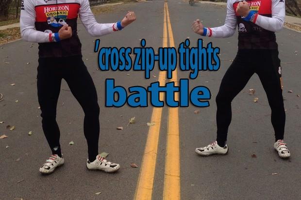 BikeRadar cyclocross zip-up tights battle: Vermarc vs Champion System